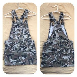 No boundaries Camouflage Overall Skirt